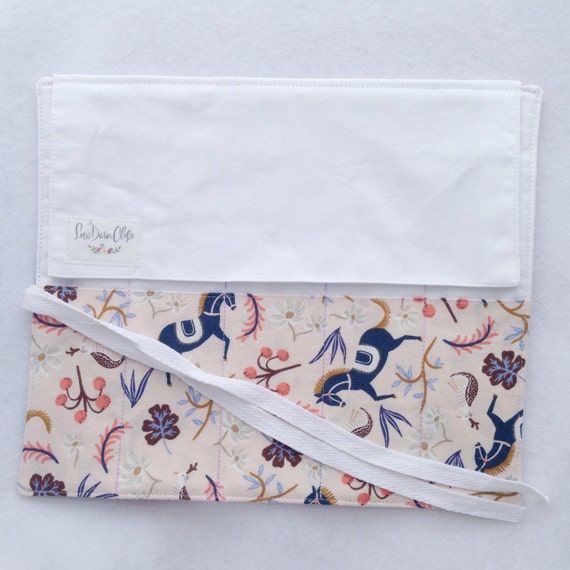 Artist Roll or Pen Roll // Carousel in Blush by Rifle Paper Co