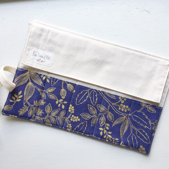 Shorty Pen Roll // Queen Ann in Navy by Rifle Paper Co