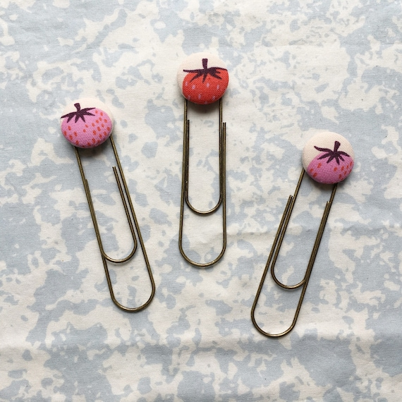 Bookmarks/Planner Clips// Strawberries