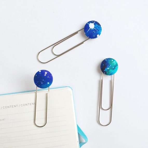 Bookmarks/Planner Clips// Galaxy