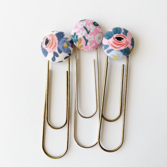 Bookmarks/Planner Clips// Rosa