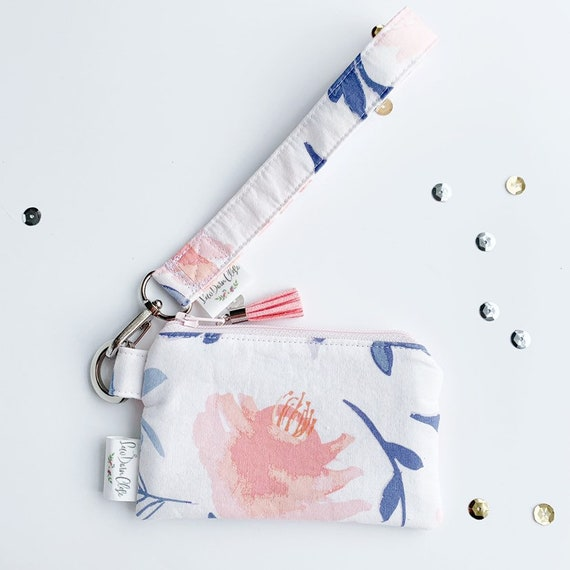 Keychain Pouch // Aquarelle Study in Wash by Bonnie Christine