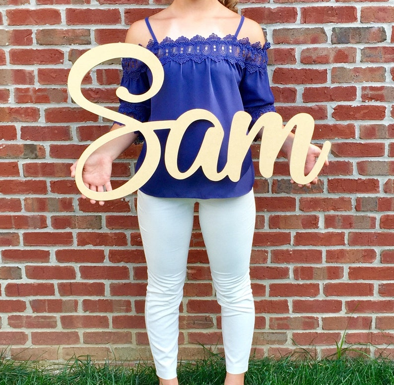 Custom Wooden Name Sign  Large Wooden Name Sign  Wall Art image 0