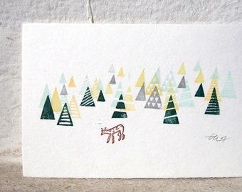 "Woodland / original Miniprint 10x15cm/4x6""/A6"