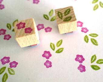 plum blossom / mini stamp set