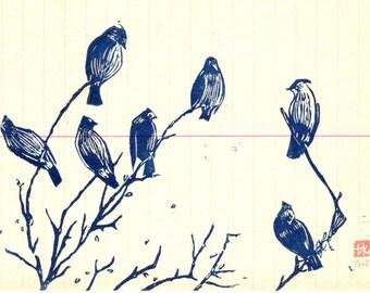 Bluebirds / Giclèe print A4/A3