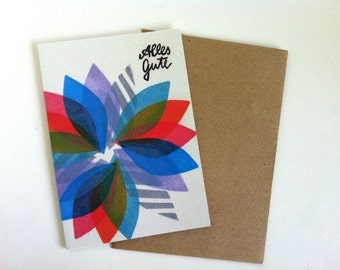 Alles Gute / Greeting card