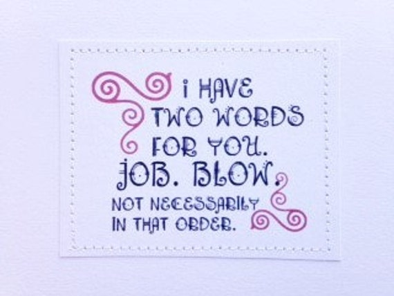 job Different terms for blow