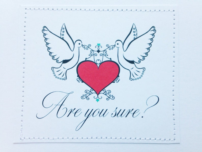 Are you sure. Funny straight or gay wedding card