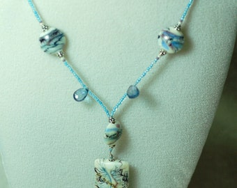 Grace Beads Turquoise and Ivory Necklace