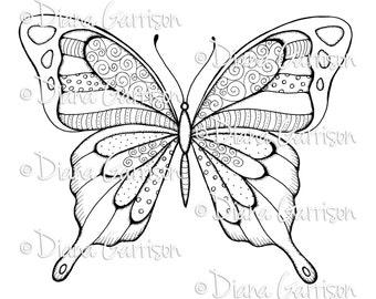 Big Butterfly Digi Digital Stamp