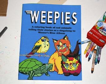 Weezer singalong sad animal coloring book