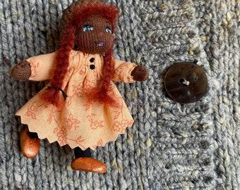 Tiny Waldorf Doll Pin
