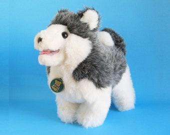 Siberian Husky, Stuffed Animal, Wolf, Eskimo Dog, Dakin, Vintage Plush, 1980s Toy, 1981