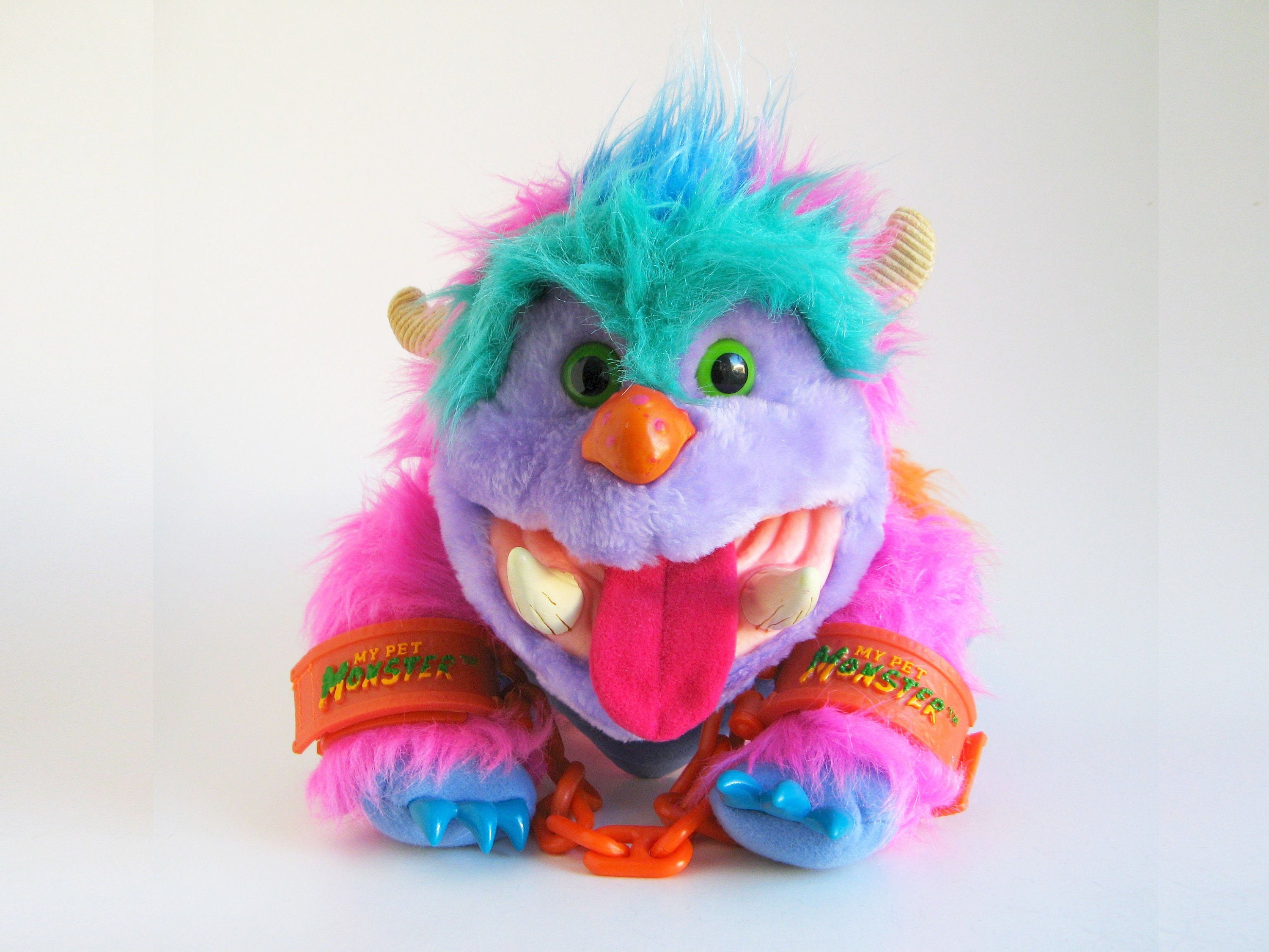 Vintage My Pet Monster With Handcuffs Wogster Puppet 1986 Etsy