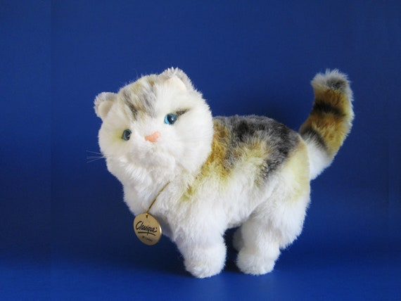 Vintage Calico Cat Stuffed Animal Classique By Dakin 1980s Toy Etsy