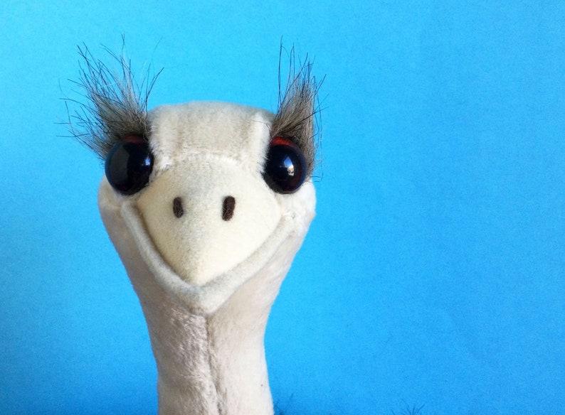 Large Ostrich Stuffed Animal Bendable Legs Dakin 1990s image 1