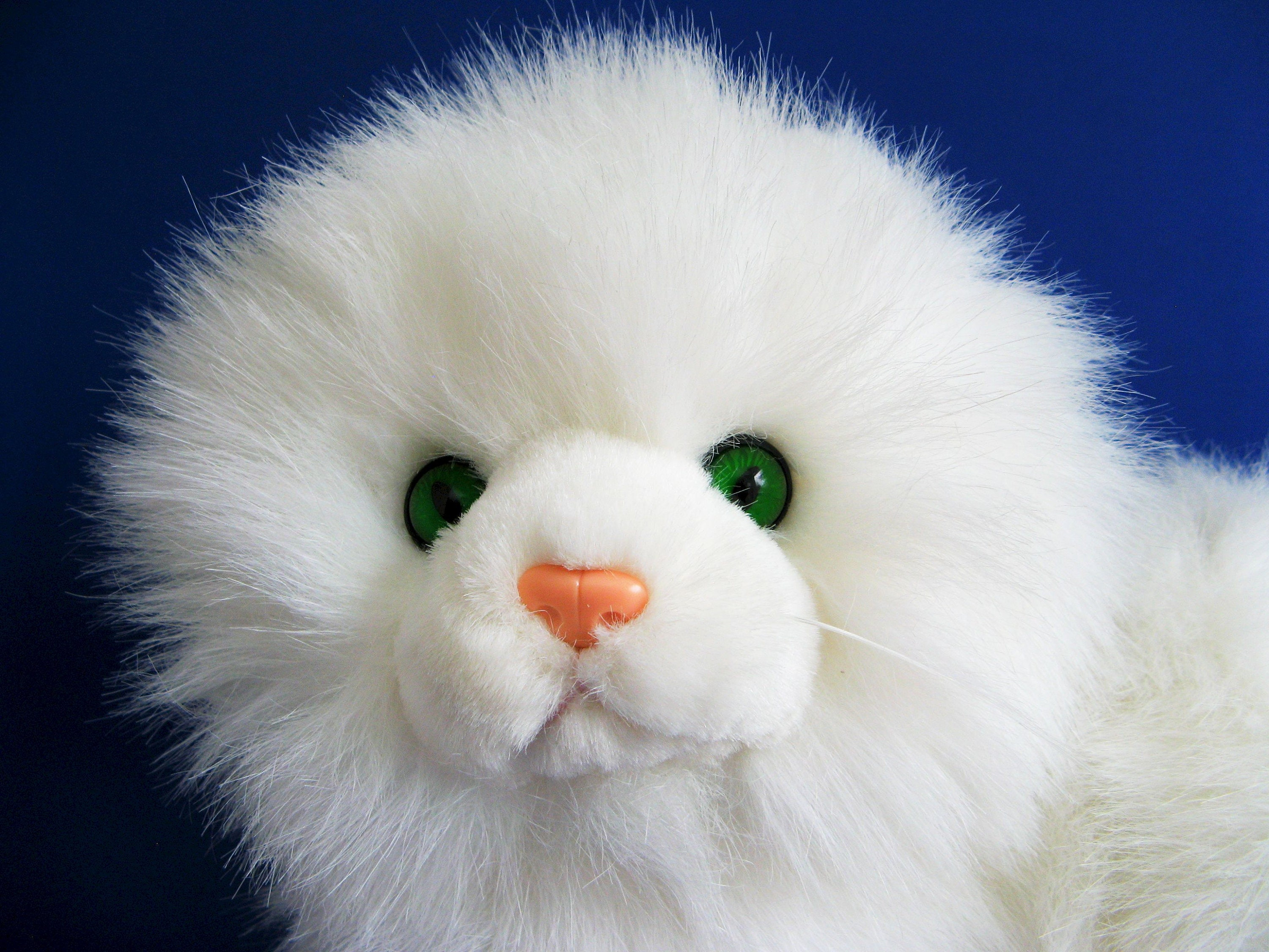 Vintage Large White Kitty Cat Nikki By Russ Berrie With Etsy