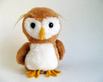 Vintage Owl Stuffed Animal Kids Toy 1970s Toy Bird Dakin 1979 Woodland Animal Forest Animal Plush Toy