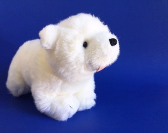 "Little Polar Bear, Lars, GUND, Hans de Beer, Stuffed Animal, 1990s Toys, Vintage Plush, 12"""