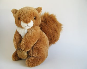 Vintage Squirrel Nutkin Stuffed Animal by Eden from the Beatrix Potter story The Tale of Squirrel Nutkin 1980s Toys Kids Toys Plush