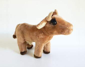 Cow, Stuffed Animal, R Dakin, 1981, Vintage Plush,  1980s Toy