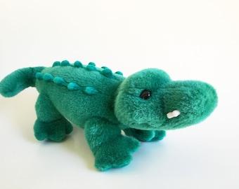 "Alligator, Crocodile, Vintage GUND, 1991, Stuffed Animal, Plush Gator, 1990s Toy, 15"""