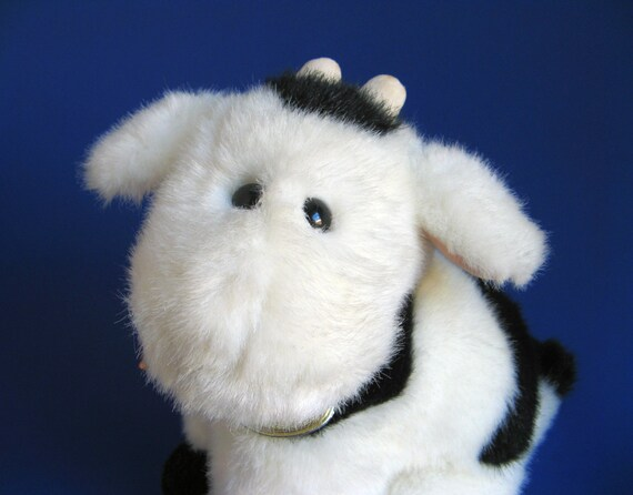 Vintage Cow Stuffed Animal By Gund Kids Toy Udders 1980s Toy Etsy