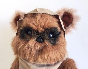 Vintage Ewok, Wicket, Teddy Bear, Star Wars, Return of the Jedi, Kenner, 1980s Toy, Stuffed Animal, Plush