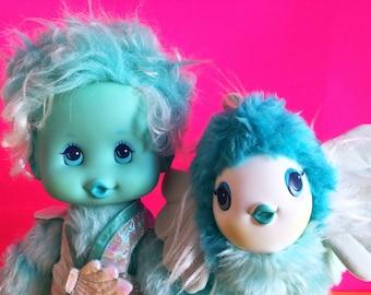 Wonder Whims, Seashell Doll, Angelfish Pet, Doug and Debby Henning, 1980s Toys, Stuffed Animal, Vintage Plush, 1985