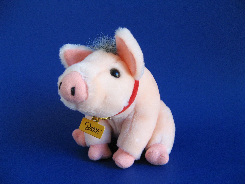Vintage Small Babe Pig Stuffed Animal 1995 Movie Based On The Etsy