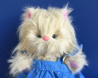 Strays Cat, Schaper, 1980s Toy, Stuffed Animal, Vintage Plush
