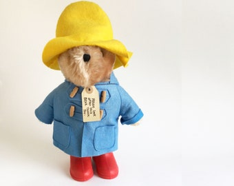 Vintage Paddington Bear, Plush Toy, Teddy Bear, Stuffed Animal, 1980s Toy