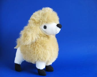 Vintage Poodle Dog Stuffed Animal by Sugar Loaf Plush Smiling Toy Dog 1980s Toy 1988
