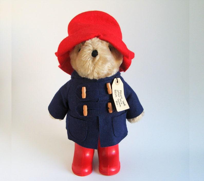 Vintage Paddington Bear Plush Toy Teddy Bear Stuffed Animal image 0