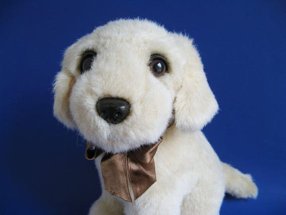 Vintage Yellow Lab Puppy Dog Stuffed Animal By Concord Etsy