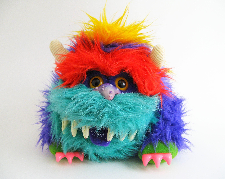 Vintage My Pet Monster Rark Puppet 1986 Amtoy Plush Stuffed Etsy