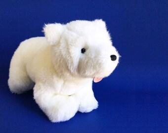 "Little Polar Bear, Lars, GUND, Hans de Beer, Stuffed Animal, 1990s Toys, Vintage Plush, 20"""