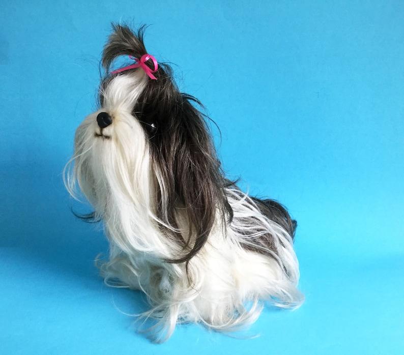 Shih Tzu Dog Stuffed Animal Domo Designs Vintage Plush image 1