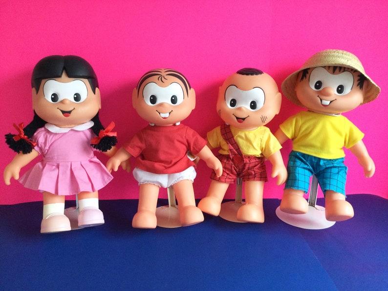 Monica's Gang Dolls Set of 5 Turma Da Monica image 1
