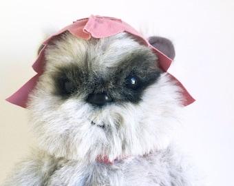 Vintage Ewok, Princess Kneesaa, Teddy Bear, Star Wars, Return of the Jedi, Kenner, 1980s Toy, Stuffed Animal, Plush