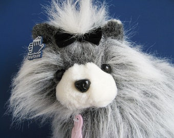 Yorkshire Terrier Dog, Stuffed Animal, Dog Brush, Yorkie Dog, Applause, 1980s Toy, Vintage Plush, 1984, Suzy