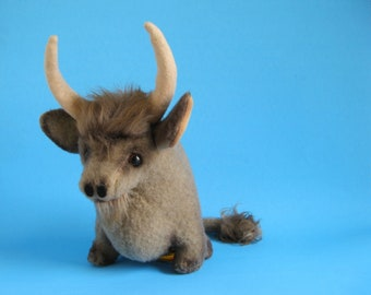Bull named Ole, Stuffed Animal, Kamar, No. 3760, 1960s Toy, Made in Japan, 1968, orignial paper tag, Vintage Plush