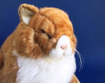 Orange Tabby Cat, Stuffed Animal, Avanti Applause, Jockline, 80s Toy, Vintage Plush