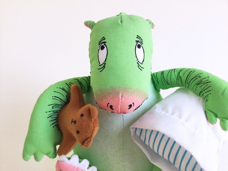 Dennis The Monster Bed stuffed animal Determined image 1