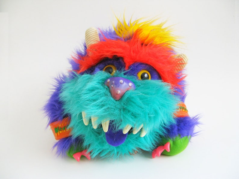 Vintage My Pet Monster With Handcuffs Rark Puppet 1986 Amtoy Etsy