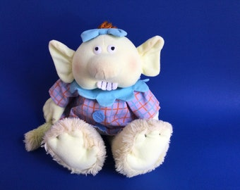 Maggie's Monster, Plush Doll, 1987, Determined Productions, 1980s Toy, Book Maggie and the Monster, Elizabeth Winthrop, Tomie dePaola