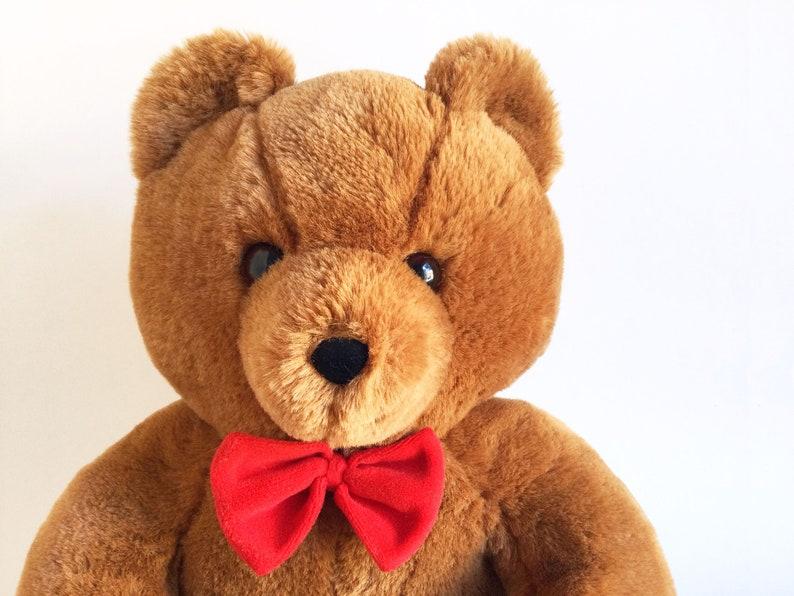 Vintage Teddy Bear Dakin stuffed animal Fun Farm Honey Jo image 1