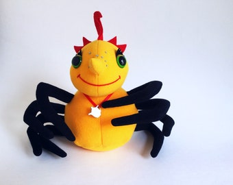 Miss Spider, Plush Toy, 1995, Callaway & Kirk Company, Tea Pot, Stuffed Animal, 1990s Toy, Book by David Kirk