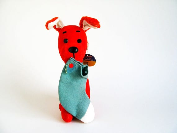 Vintage Christmas Stocking Dream Pets Dog Stuffed Animal By R Etsy